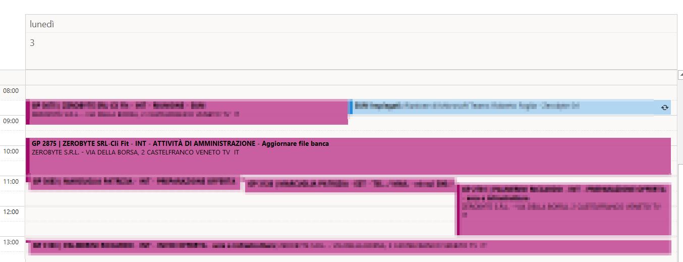 Zerobyte sincro crm calendario di Outlook